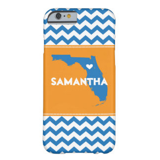 Orange & Blue Chevron iPhone 6 Case Florida