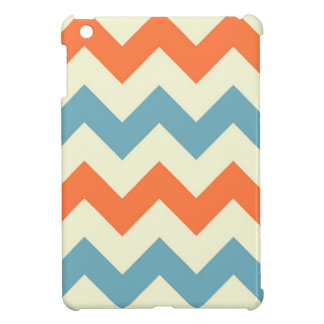 Orange blue chevron zigzag stripes zig zag pattern cover for the iPad mini