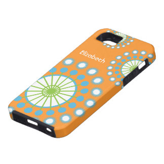Orange, Blue, Green Pinwheel iPhone 5 Vibe Case
