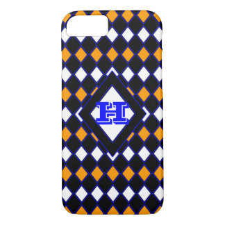 Orange & Blue Harlequin iPhone 8/7 Case