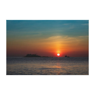 Orange Blue Morning Sky Vietnam Canvas Print