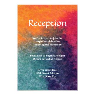Orange Blue Pink Watercolor - Reception Invitation