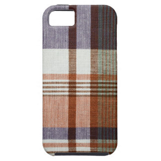 Orange & Blue Plaid iPhone 5 Covers