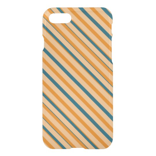 Orange Blue Stripe Deflector iPhone 7 Case
