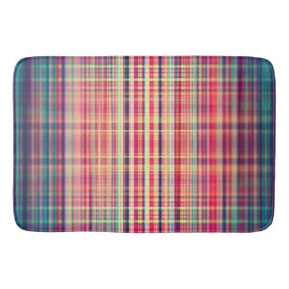 Orange blurred stripes pattern bath mat