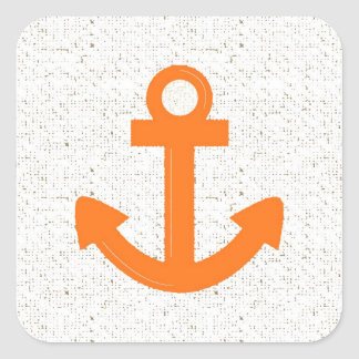 Orange boat anchor distressed stickers
