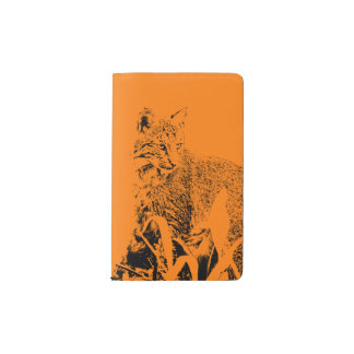Orange Bobcat Portrait Notebook Cover