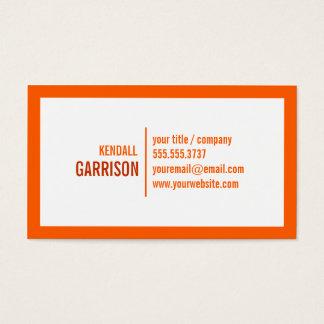 Orange Bold Border Business Card