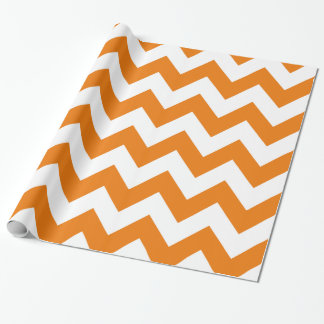 Orange Bold Chevron Wrapping Paper