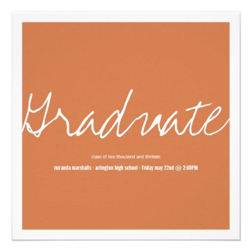 Orange Bold Photo Graduation Announcements
