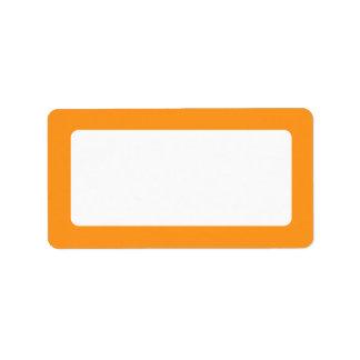 Orange border blank