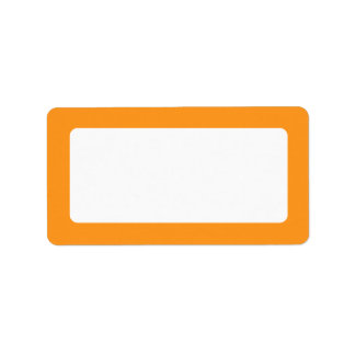 Orange border blank label