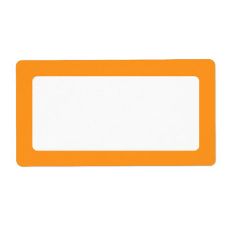 Orange border blank shipping label