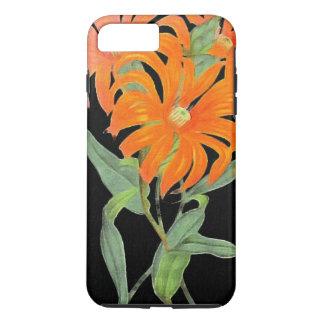 Orange Botanical Vintage Flowers iPhone 7 Plus Case