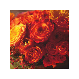 Orange Bouquet of flowers Canvas Print