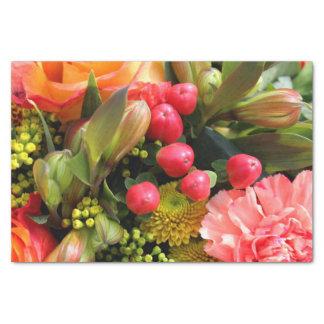 Orange Bouquet Tissue Paper