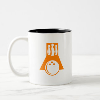 Orange Bowling Two-Tone Coffee Mug