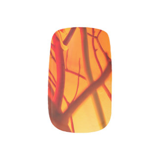 Orange Branch Minx Nail Art