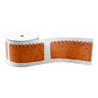 Orange Brick - Atom Of Creation Grosgrain Ribbon