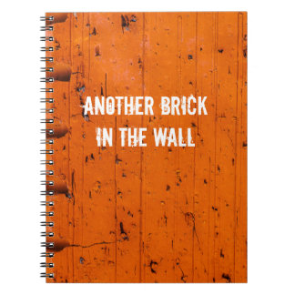 Orange Brick - Atom Of Creation Notebook