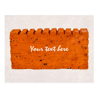 Orange Brick - Atom Of Creation Postcard