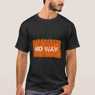 Orange Brick Custom Text T-Shirt