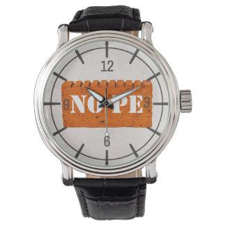 Orange Brick - NOPE Funny customizable Watch