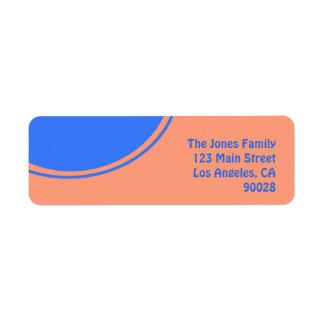 Orange bright blue mod design