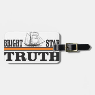 orange bright star of truth luggage tag