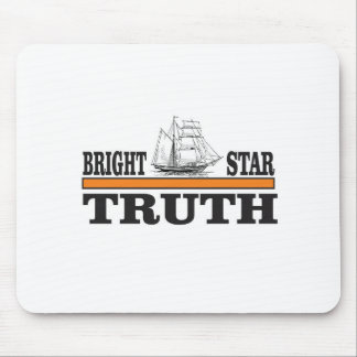 orange bright star of truth mouse pad