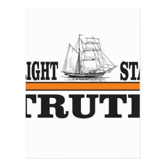 orange bright star of truth postcard