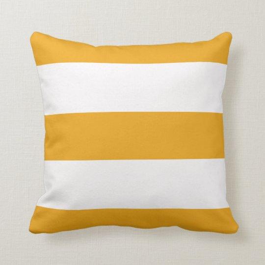 Orange Broad Stripe Striped Stripes Pillow