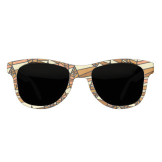 Orange Brown Autumn Leaves Pattern Sunglasses