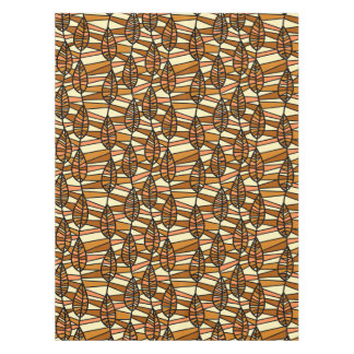 Orange Brown Autumn Leaves Pattern Tablecloth