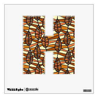 Orange Brown Autumn Leaves Pattern Wall Decal