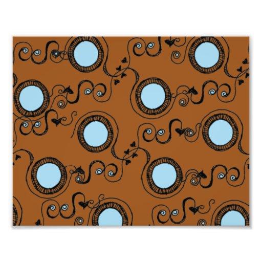 Orange brown circles photograph