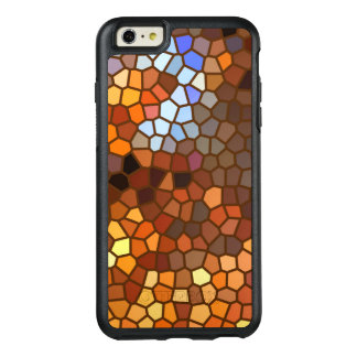 Orange Brown Mosaic OtterBox iPhone 6 Plus Case