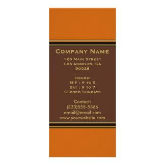 orange brown simple rack card