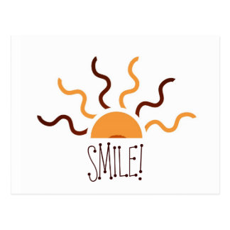 Orange & Brown Sun Cut Out Postcard