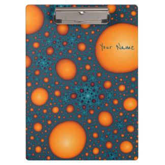 Orange bubbles. Add your name or custom text. Clipboard