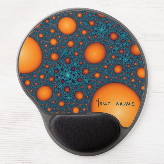 Orange bubbles. Add your name or custom text. Gel Mouse Pad