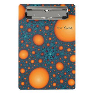 Orange bubbles. Add your name or custom text. Mini Clipboard