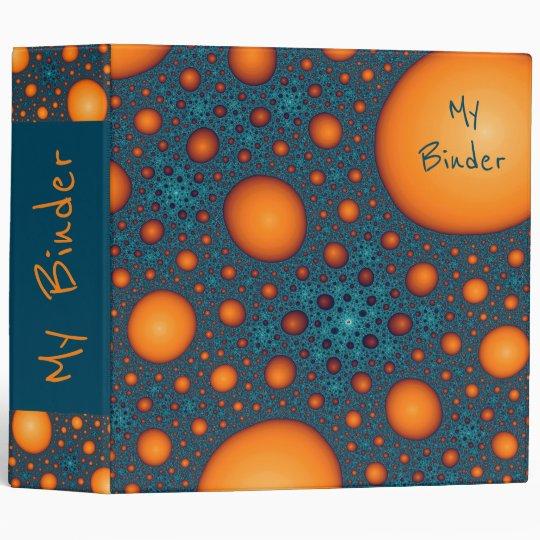 Orange bubbles. Add your name or custom text. Vinyl Binder