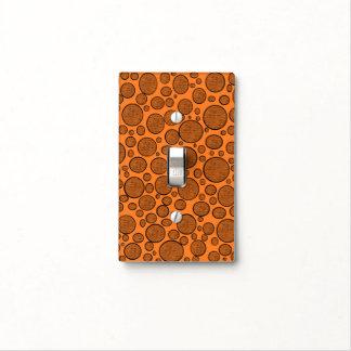 Orange Bubbles Dark Light Switch Cover