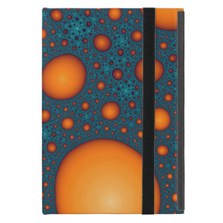 Orange bubbles iPad mini case