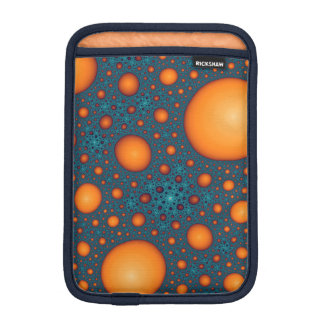 Orange bubbles iPad mini sleeve