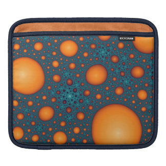 Orange bubbles iPad sleeve