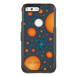 Orange bubbles OtterBox commuter google pixel case