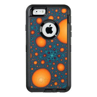 Orange bubbles OtterBox defender iPhone case
