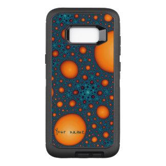 Orange bubbles OtterBox defender samsung galaxy s8+ case
